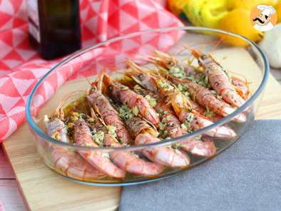 Recipe Roasted prawns with garlic and herbs