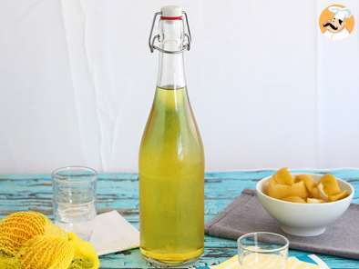 Recipe Homemade limoncello, the italian lemon liqueur