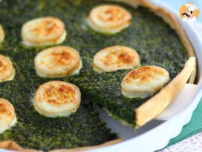 Recipe Spinach and goat cheese quiche