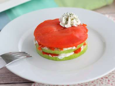 Recipe Salmon mille feuille with green apple