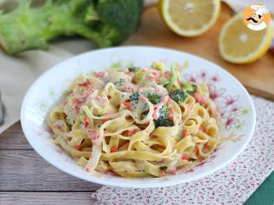 Recipe One pot pasta with salmon and broccoli