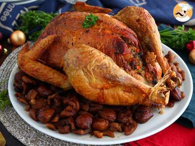 Recipe Roasted capon with chestnuts