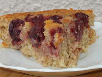 Recipe Luscious cherry, oats and coconut cake (dairy free)