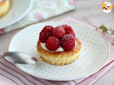 Recipe Puff pastry cups with raspberries and mascarpone