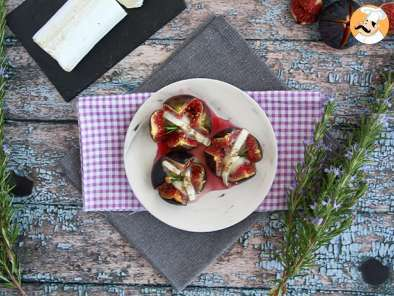 Recipe Goat cheese and honey figs