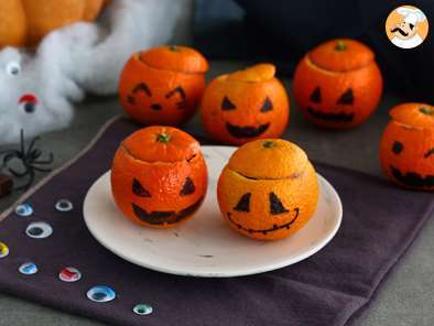 Recipe Halloween mandarins with chocolate mousse