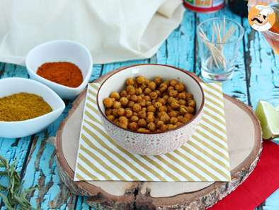 Recipe Roasted chickpeas with curry (Baked chickpeas)