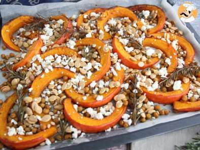 Recipe Baked pumpkin and chickpeas, rosemary and feta cheese