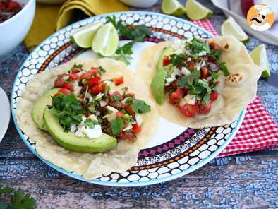 Recipe Vegetarian tacos with lentil salad