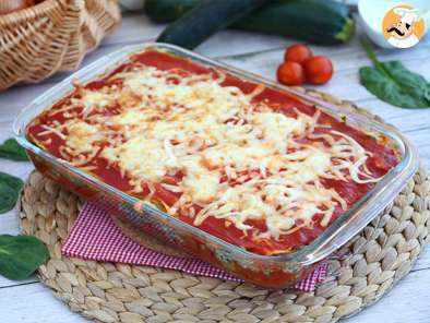 Recipe Zucchini lasagna filled with spinach - gluten free