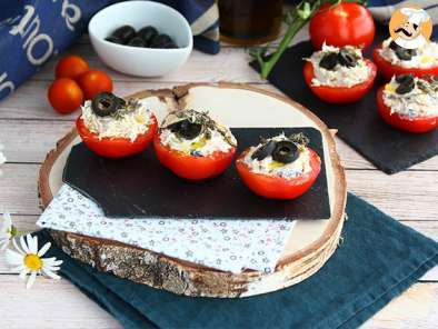 Recipe Tomatoes stuffed with tuna, creamcheese and olives
