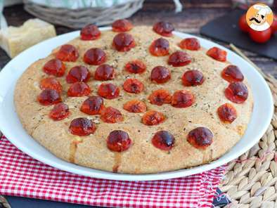 Recipe Focaccia with cherry tomatoes