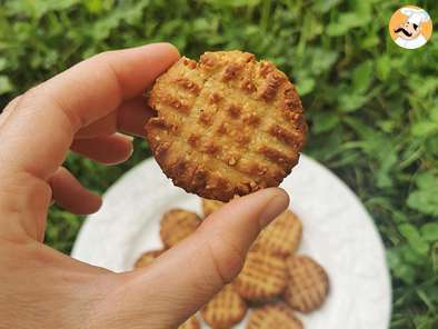 Peanut butter cookies - 4 ingredients - no added sugars