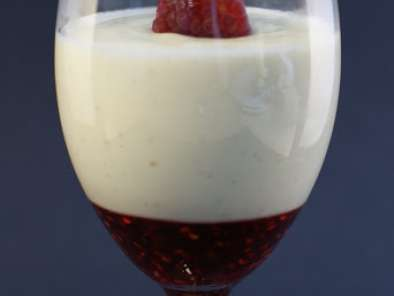 Recipe Vanilla cream cheese panna cotta w/raspberry sauce