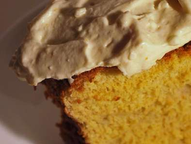 Recipe Passover orange and apricot sponge cake with citrus mascarpone frosting