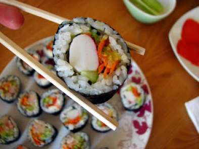 Recipe California rolls or beginner sushi
