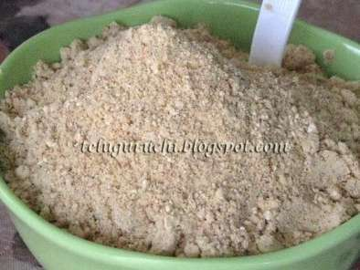 Recipe Spiced dalia (roasted bengal gram) powder (putnaala podi)
