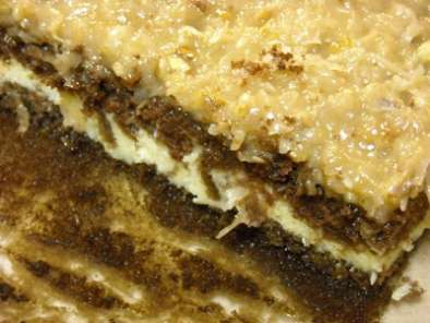 Recipe German chocolate cake cheesecake style