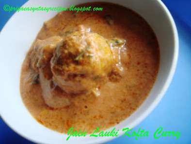 Recipe Jain lauki koftas curry