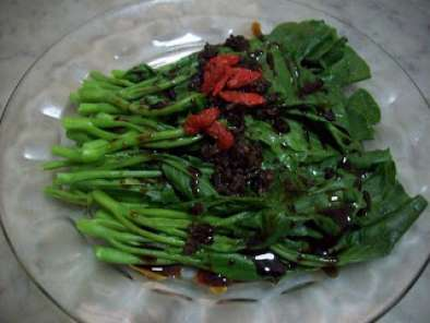 Recipe Kailan with toon sprout sauce