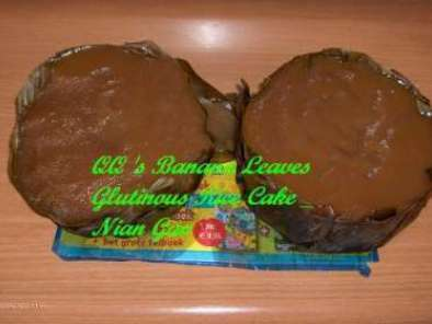 Recipe Banana leaves glutinous cake - nian gao