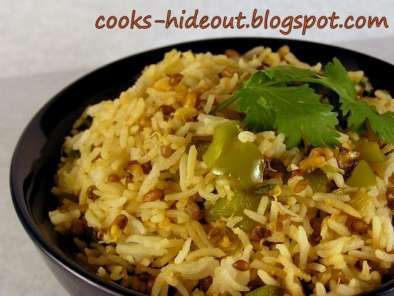 Recipe Sprouted matki pulao (moth beans pilaf)