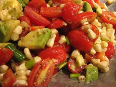 Recipe Tomato, corn, and avocado salad