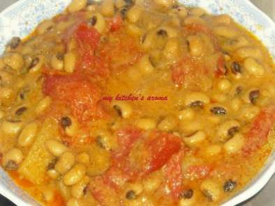 Recipe Bobbarlu kurma/black-eyed beans curry