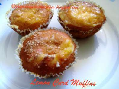 Recipe Lemon curd muffins - sweet & simple bakes monthly baking event