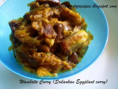 Recipe Wambatu curry (sri lankan eggplant curry)