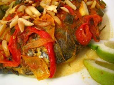Recipe Portuguese style baked trout