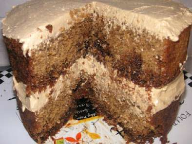 Recipe Austrian coffee cake with coffee buttercream