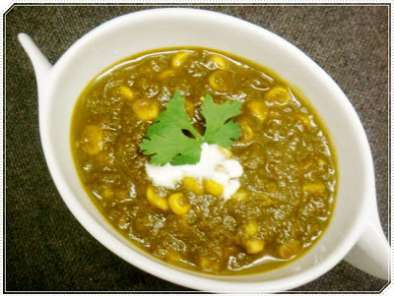 Recipe Corn palak (sweet corn with spinach)