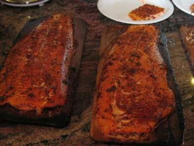 Recipe Cedar planked salmon with dry rub
