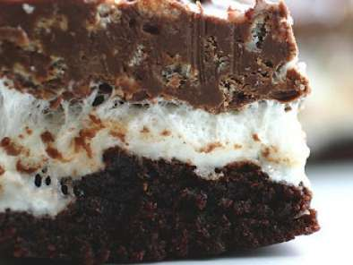 Recipe Peanut butter marshmallow crispy brownies aka gooey chocolate overload