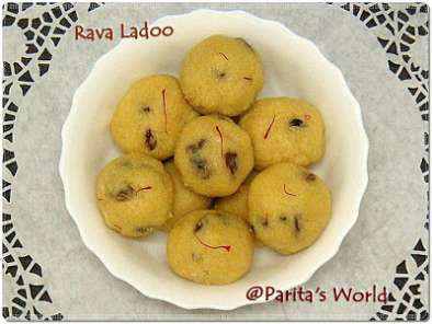 Recipe Rava laddoos for indian cooking challenge
