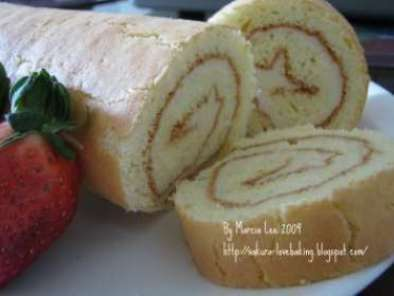 Recipe Butter cream swiss roll