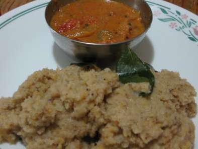 Recipe Rava pongal with thakkali kuzhambu/sooji pongal with tomato gravy