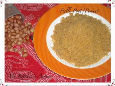 Recipe Palli podi/peanut powder