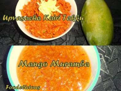 Recipe Upvasacha kairi takku and mango muramba