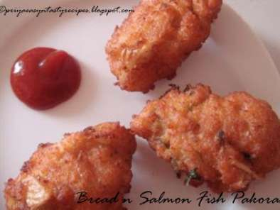 Recipe Bread n salmon fish pakoras