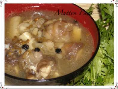 Recipe Mutton paya soup/lamb trotters and awards