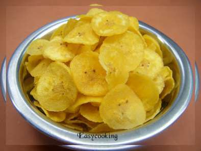 Recipe Homemade banana chips~happy krishnashtami!!