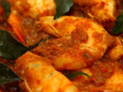 Recipe Hot & spicy belacan prawns