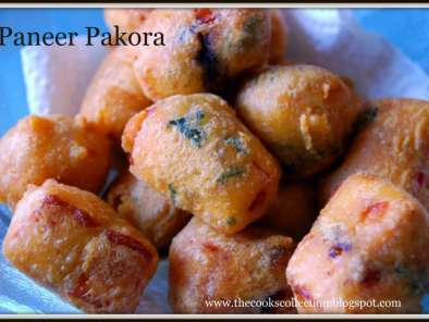 Recipe Paneer pakora (indian cheese fritters)