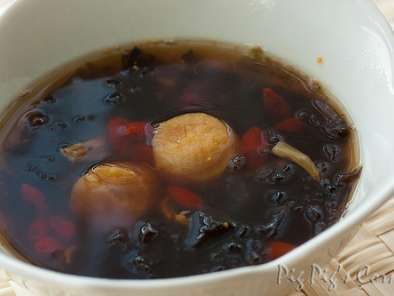 Recipe Dried scallops & seaweed soup