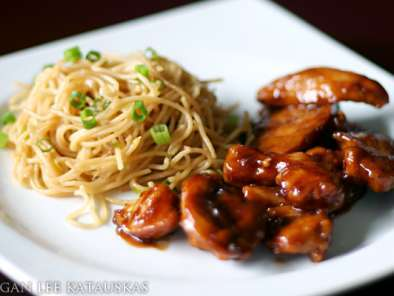 Recipe Teriyaki chicken & garlic noodles