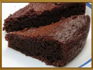 Eggless chocolate cake with condensed milk