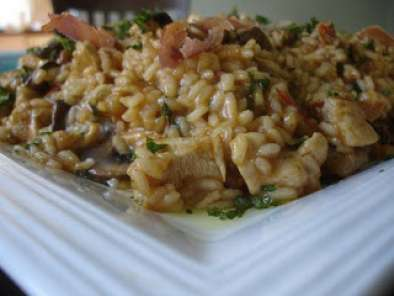 Recipe Video recipe: chicken, proscuitto and mushroom risotto