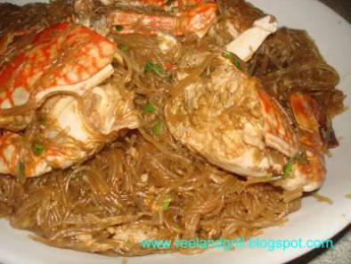 Recipe Alimasag con sotanghon (sea crab with glass noodles)